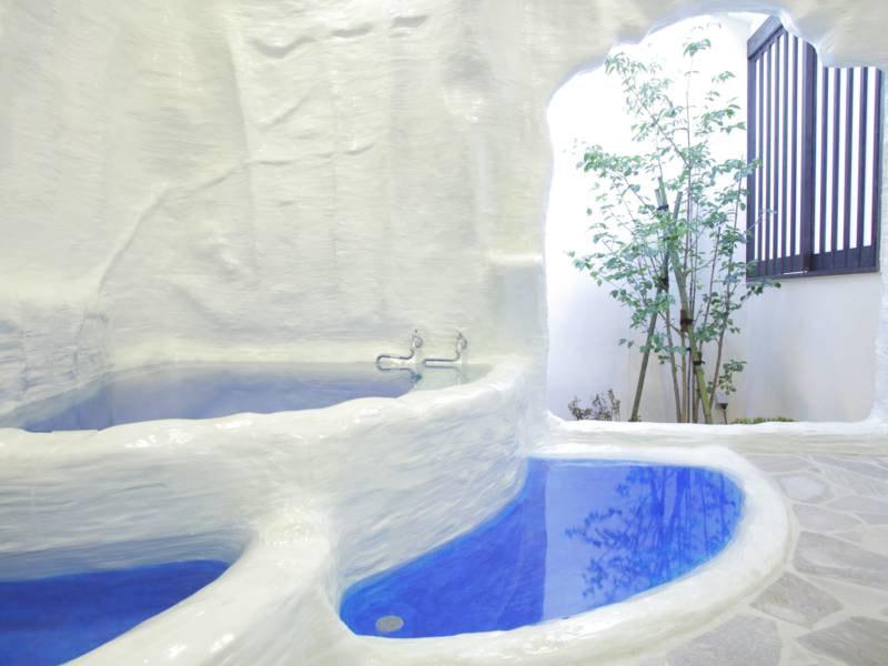 1階貸切風呂「パムッカレ」1回30分1,100円で利用可能!
