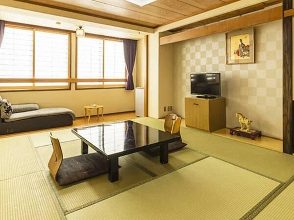 明るく清潔感のある和室10畳へご案内/一例