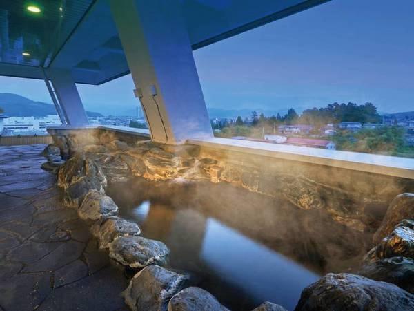 【果実の山 あづま屋】露天風呂からは上山市街の夜景を一望!山形の味覚を味わう和会席を堪能!