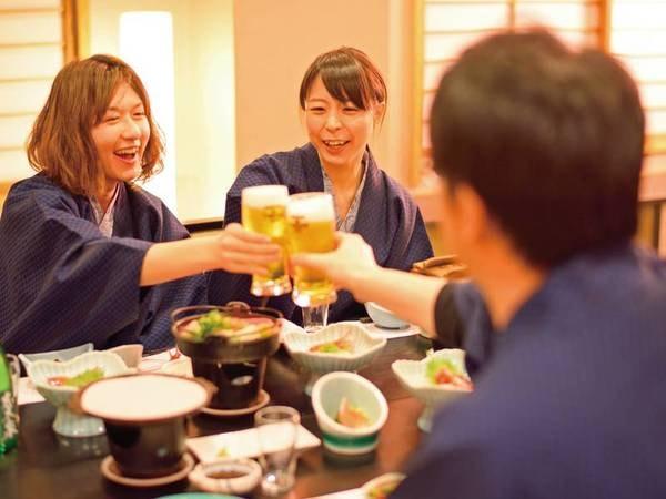夕食は、個室もしくはお部屋にてゆったりと♪(写真イメージ)