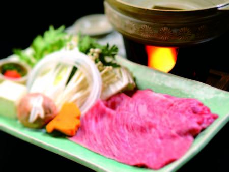 【米沢牛しゃぶかすき焼プラン/しゃぶしゃぶ例】山形のブランド肉「米沢牛」を堪能