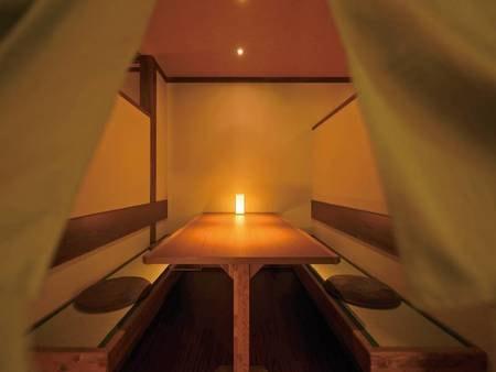 【食事会場/例】半個室も充実しておりゆったり過ごせる