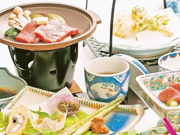 特選牛と野菜の陶板焼き/一例