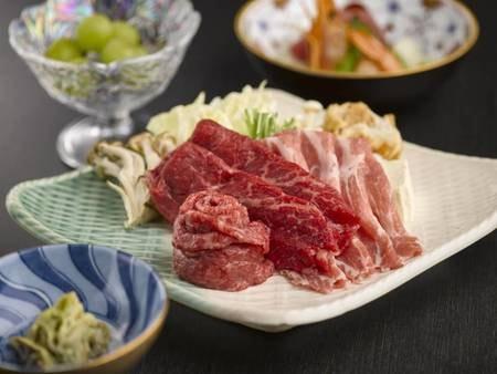 「米沢牛&黒毛和牛&米沢豚」食べ比べ/一例