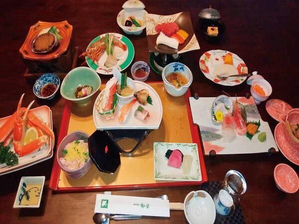 【夕食/例】山形牛&あわび&蟹&伊勢海老付き和会席