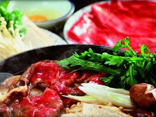 特選牛しゃぶorすき焼き選択料理/すき焼き一例