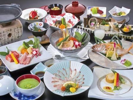 【季節の華やぎ会席/例】時期・仕入れにより変更の可能性有※秋のお料理は9月1日~11月30日迄となります。