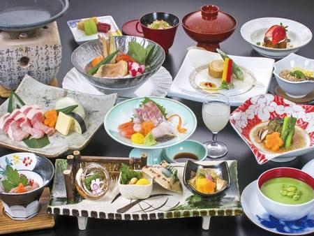 【季節の彩り会席/例】時期・仕入れにより変更の可能性有※秋のお料理は9月1日~11月30日迄となります。