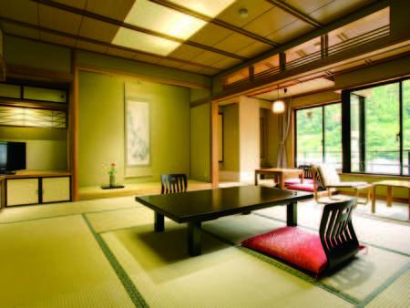 【西館和室/例】10畳+4.5畳の広々としたお部屋