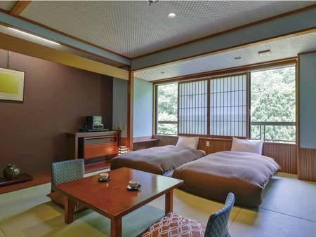 【和ベッド/38㎡】和室に低めのローベッドを2台設置(3名様目以上はお布団のご用意)