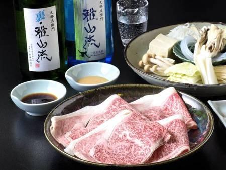 【選べる米沢牛会席】しゃぶしゃぶ選択時の一例。日本三大和牛の「米沢牛」を提携牧場から直送!