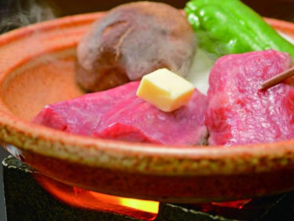 【山形牛陶板焼き付バイキング/例】山形牛の陶板焼付