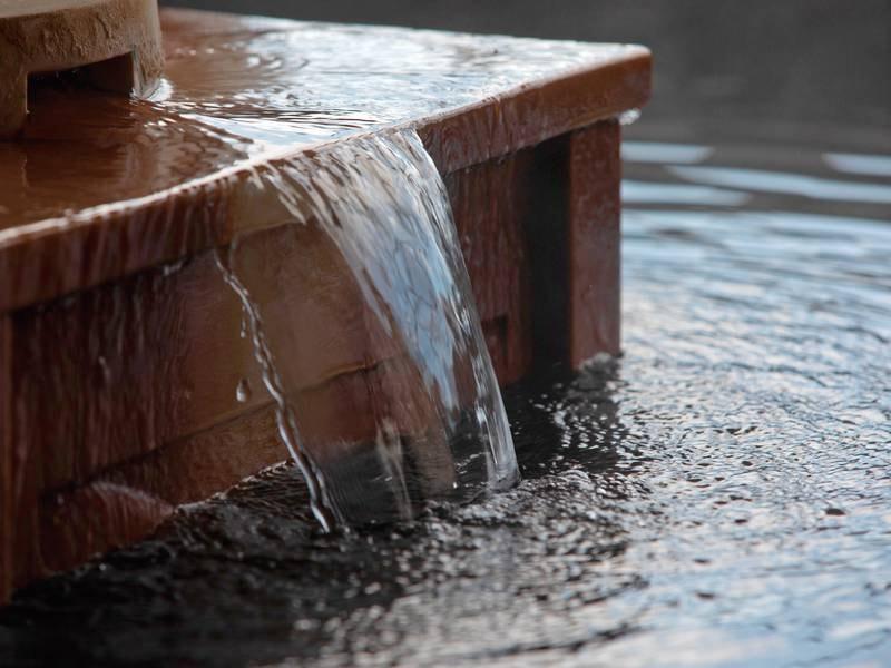 【大浴場】2種の源泉を1度に楽しめる