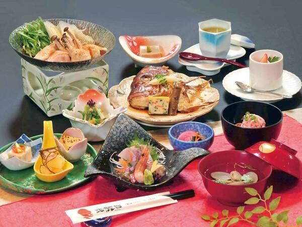 【豚しゃぶ&鯛のカブト&旬魚を楽しむ和食膳/例】お手頃価格で楽しめる和食膳