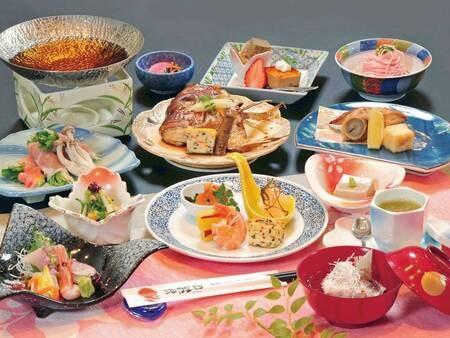 【お刺身4点盛付きグレードアップ和食膳/例】日本海の海の幸を満喫♪