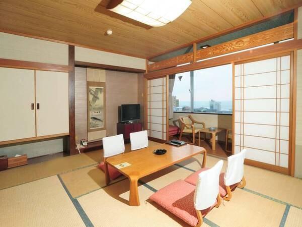 【和室/例】ゆったりできる10畳和室をご用意(予約時、禁煙・喫煙の選択可能!)