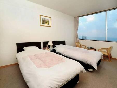 【洋室/例】シンプルな造りの洋室ツインルーム(予約時、禁煙・喫煙の選択可能!)