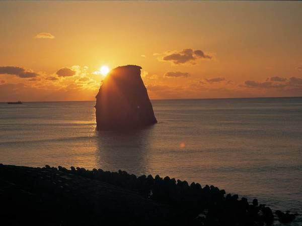 【眺望/例】夕日を臨む