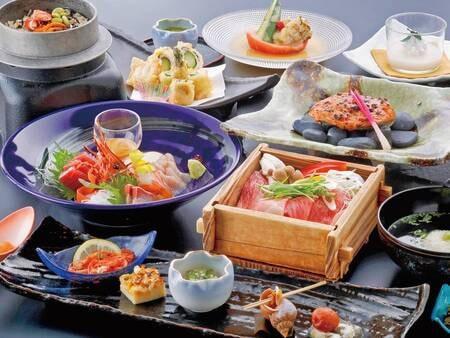 【花楽プラン/3~5月例】メインは仙台牛ヒレの陶板焼きや桜鯛の塩釜焼で豪華に♪