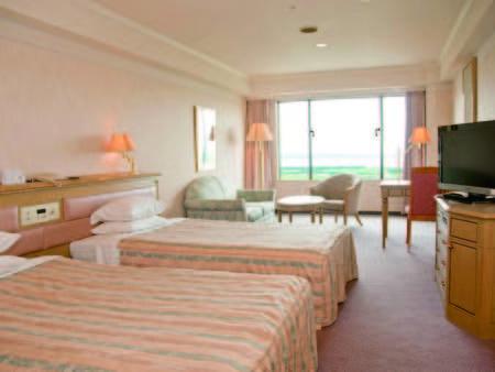 【洋室/例】10階以上の高層階確約!37平米の広々としたツインルーム