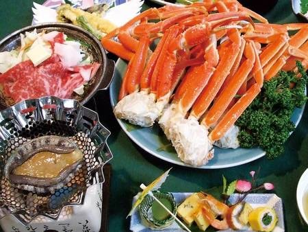 【3大味覚付和食膳/例】うれしい3大味覚付!※ズワイ蟹は4人前例
