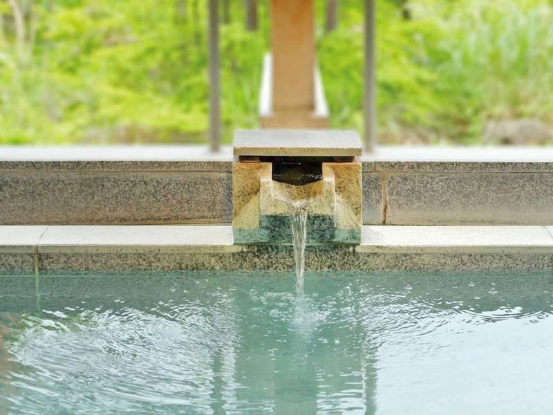 【大浴場/山の湯】温泉が湧き出る湯口