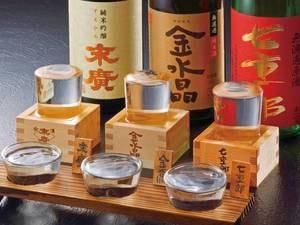 【地酒3種飲み比べ/例】福島の地酒を堪能♪