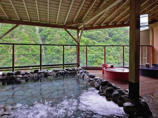 【露天風呂】四季折々の景色が堪能できる