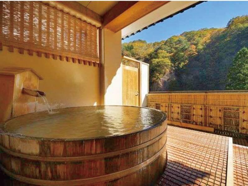 【露天風呂/瀧の湯】開放感と渓谷美を愉しむ