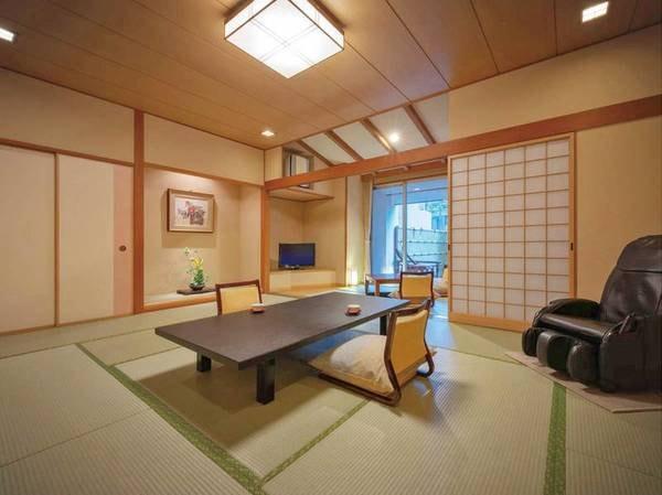 【露天風呂付客室/例】部屋の目の前には露天風呂♪