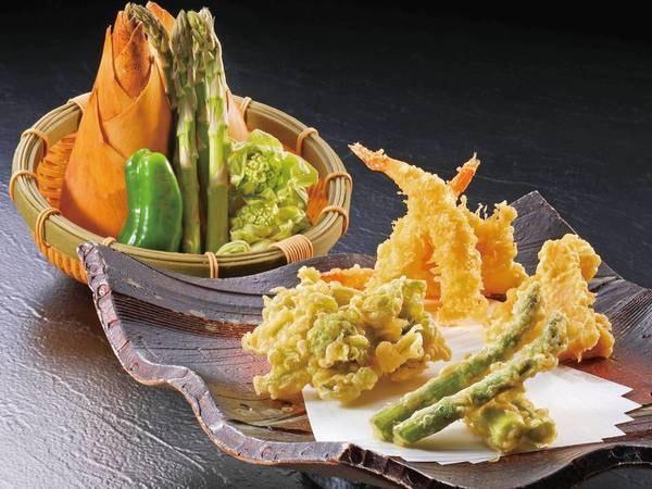 【夕食/例】アツアツサクサクの季節の天ぷら食べ放題!