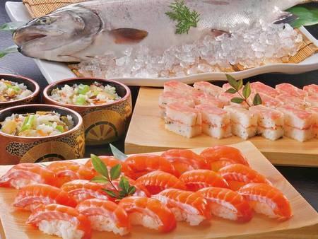 【夕食/例】握り寿司も食べ放題!