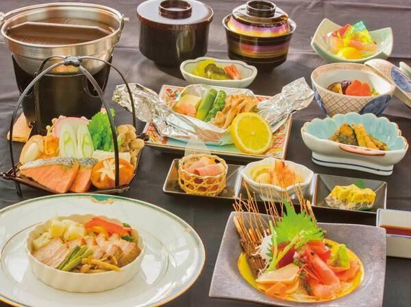 【夕食/例】季節の食材を使用した創作会席をご用意