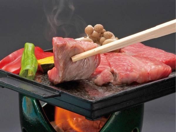 【茨城の味めぐりプラン/夕食一例】茨城が誇るブランド牛「常陸牛」の石焼き