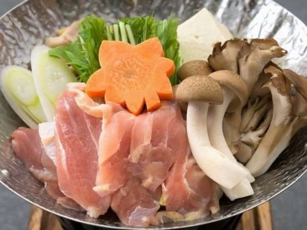 奥久慈軍鶏鍋/一例