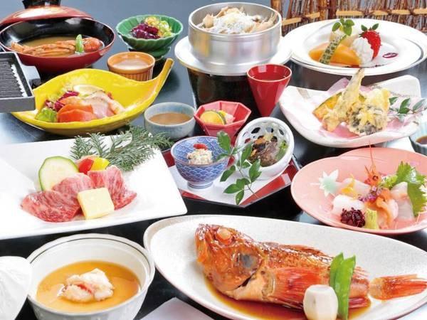 【[料理アップ]姿煮付き海鮮会席/例】五浦の味覚をふんだんに使用!