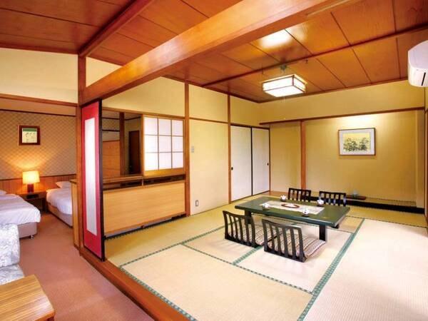 【客室/例】和洋室確約!和室8畳+ツインのゆったり空間のため、ご家族に人気