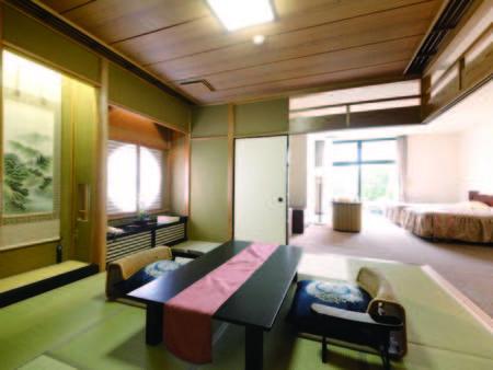 【露天風呂付特別室/例】和室二間と洋室・露天風呂付のゆったりとした作り