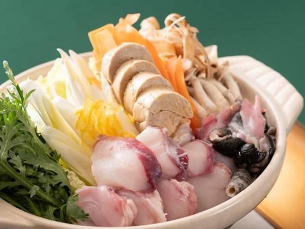 【夕食/例】冬の味覚「あんこう鍋」は自慢の料理のひとつ