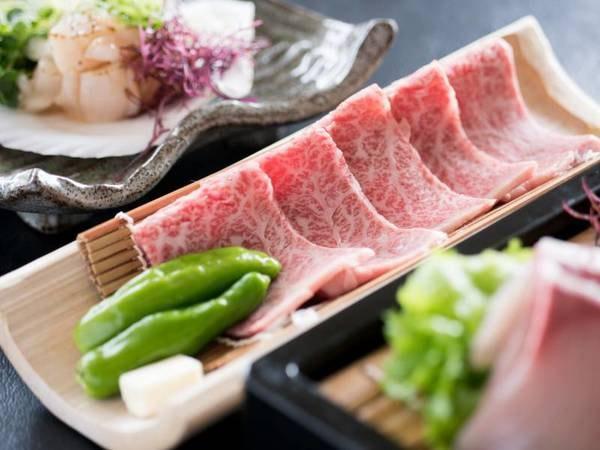 【夕食/例】常陸牛の石焼きも味わえる