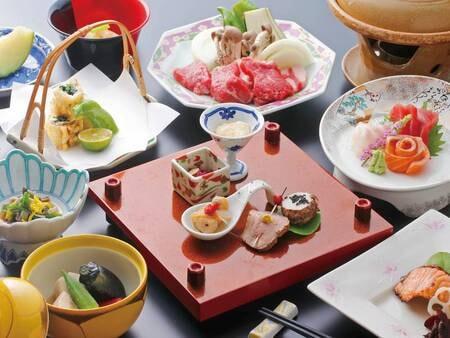 【夕食/例】旬の食材を使用した季節の和会席プラン