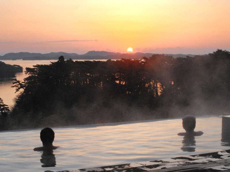【露天風呂/例】松島から昇る朝日は絶景