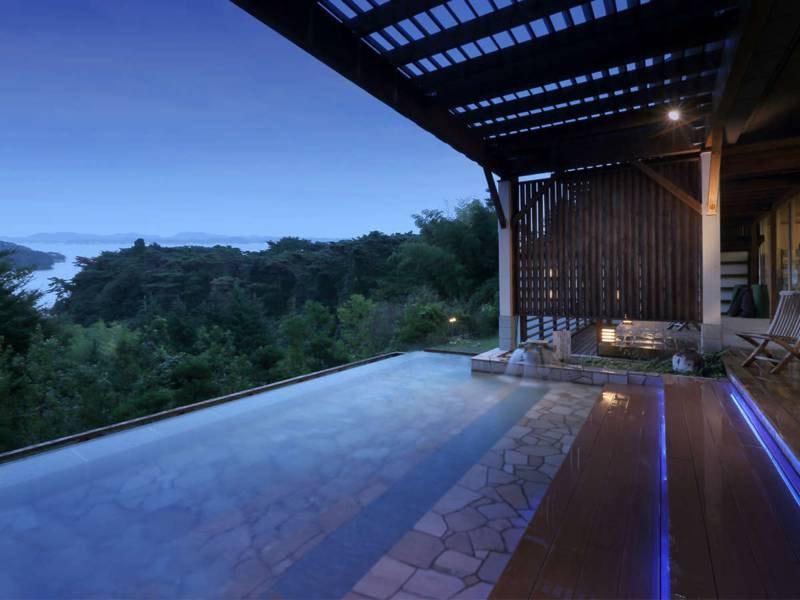 【露天風呂/例】日本三景・松島の壮大で美しいロケーションを楽しみながらの入浴をお楽しみください