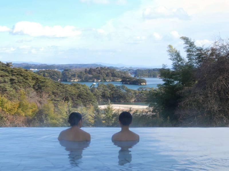 【露天風呂/例】島湾の眺望をご堪能