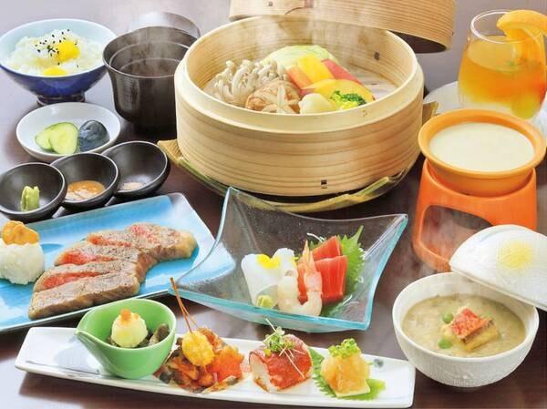 【基本/創作料理】当館の一番人気、基本のお食事。お肉と野菜のうまみ、日本酒とのペアリングを楽しんで