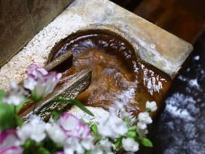 男性(内湯)/とうとうと流れ出る温泉