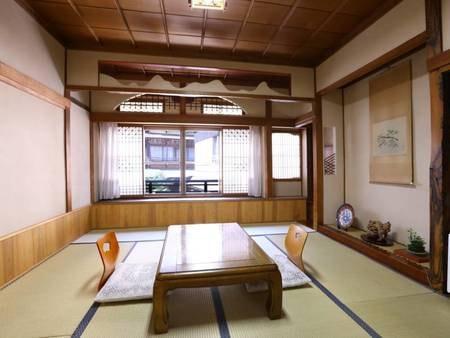 【和室8畳】温泉通りに面したお部屋/一例