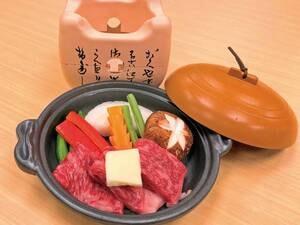 【有料オプション/例】富士山牛陶板焼き