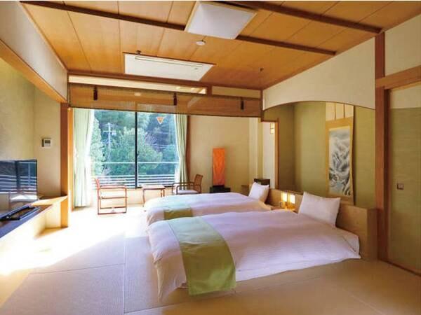 【和室/例】10畳。2台の低床・和ベッドをご用意