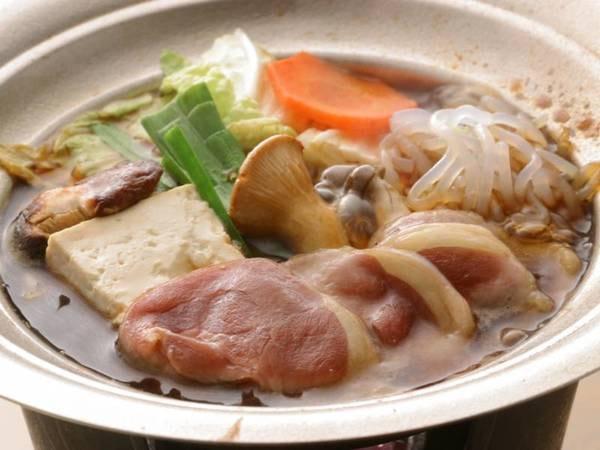 選べる主菜①ホロホロ鳥のすき焼き(一例)